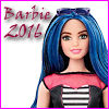 "cereta: New ""curvy"" Barbie with blue and black hair, text ""Barbie 2016"" (Barbie 2016)"