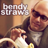 veleda_k: Mozzie from White Collar, with bendy straws (White Collar: Mozzie bendy straws)