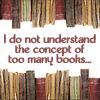 inkbandit: (too many books)